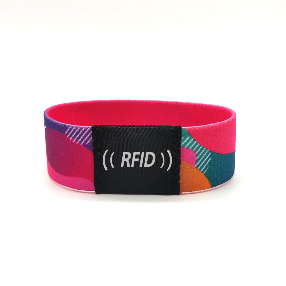 Reusable Elastic fabric rfid-enabled Wristbands