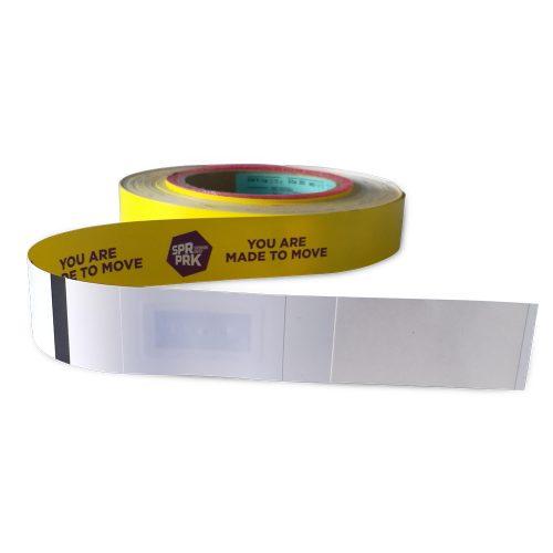 Waterproof thermal print RFID paper Wristband
